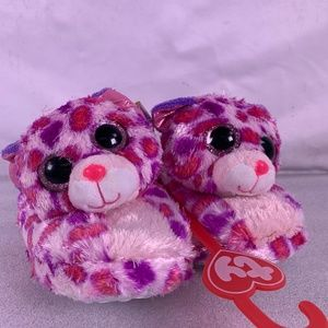 Girls TY Beanie Boos Cozy Slippers (M 12-13)